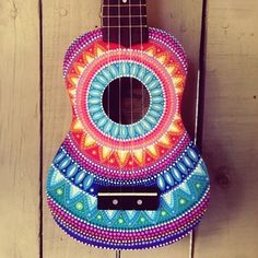 I now have custom made dottilism mandala ukuleles available through my Etsy! I only have one photo up currently but you can let me know when you order what colours you prefer to see (eg: more blues purples & pinks) or you can leave it up to me I absolutely love the bright colours of this style it always make me smile hope you like it! Available on my Etsy now the link is in my bio #poscapaintpens #posca #paint #pens by salty_hippie