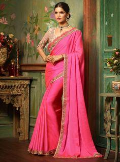 Pink Silk Saree With Blouse 105499