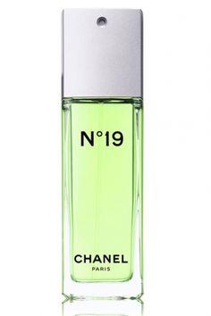 Chanel N°19 Chanel for women... galbanum, neroli, bergamot, jasmine, rose, lily of the valley, iris, vetiver, sandalwood, leather and musk