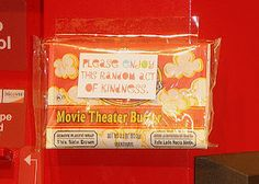 Random acts of kindness - tape popcorn to a redbox