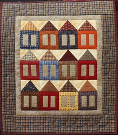 More Little Houses Mini Patchwork Quilt  by jillyspoon, via Flickr