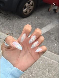 ❄️❄️❄️ #AcrylicNailsDesigns Stiletto Nail Art, Cute Acrylic Nails, Acrylic Nail Designs, Cute Nails, Coffin Nails, Pretty Nails, Best Nail Designs, Painted Acrylic Nails, Bling Nails