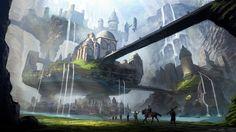 ArtStation - Canyon City, Matthew Harris