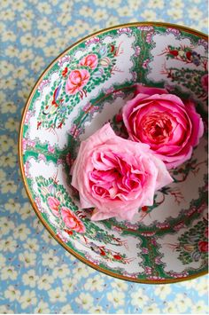 flowers in a bowl