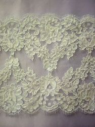 White Corded French Lace
