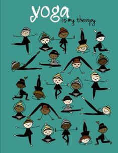 Yoga Is My Therapy; Yoga Journal/Yoga Gifts for Women: Lined Yoga Quote Notebook/Diary/Journal; Cute Gifts for Yoga Lovers (Paperback)