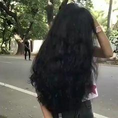 Black Hair Video, Long Hair Video, Long Black Hair, Dark Hair, Indian Long Hair Braid, Braids For Long Hair, Long Bob Hairstyles, Indian Hairstyles, Real Rapunzel