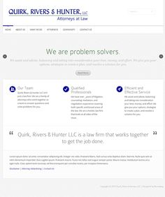 Home page for a new site we designed for a law firm.  Simple, elegant and to the pooint