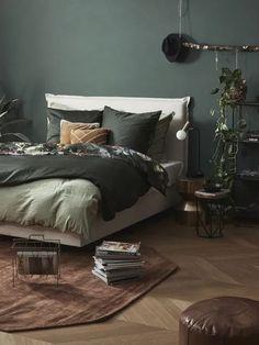 Colori per la casa d'autunno Home Living, Living Room Modern, Modern Bedroom, Living Rooms, Bedroom Styles, Bedroom Colors, Bedroom Decor, Bedroom Ideas, Botanical Bedroom
