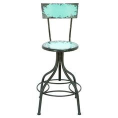 Found it at Wayfair - Old Look Adjustable Bar Chair in Baby Blue