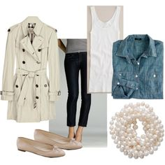 denim & pearls hey I could wear this!