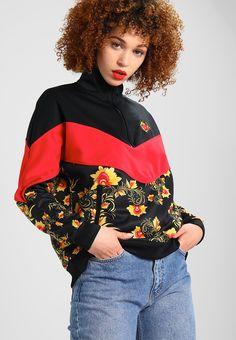 Nike Sportswear FLORAL - Verryttelytakki - black/university red