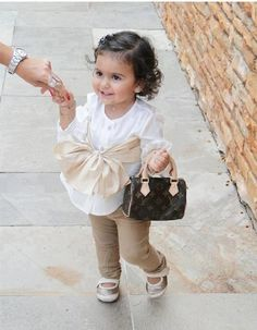 Chic outfit & purse for infant