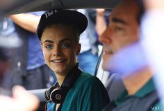 Cara Delevingne after the Fendi S/S 13 show. Fashion Week Street Style Photos, Milan.