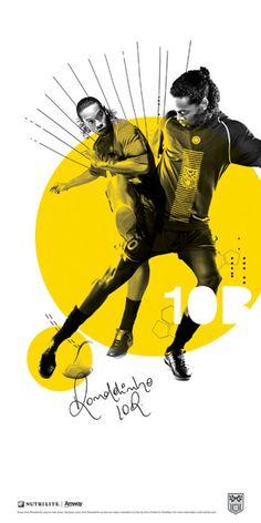 Ronaldinho by Tim Calkins, via Behance