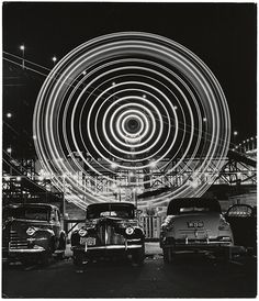 [Ferris wheel], 1949 // Long exposure shots of fairground rides in Coney Island by Andreas Feininger.