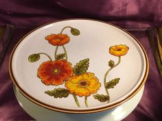 Mikas Dinner Plate California Poppies Natural Beauty   | eBay
