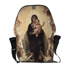 Regina Angelorum by Bouguereau, Victorian Angels Courier Bags Cool Messenger Bags, Victorian Angels, Angeles, Purses, Mini, Design, Handbags, Angels