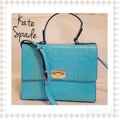 NWT Kate Spade Doris Orchard Valley in Turquoise MAKE AN OFFER !! Brand new with tags croc leather Kate Spade Doris Orchard Valley in Chic Turquoise with gold hardware. Product code WKRU1823. Sold retail for $448 kate spade Bags
