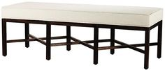 Martha Stewart Living™ Lombard Long Bench ($191, but only in linen)