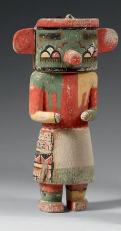 Untitled wood figurine by Navajo medicine man & folk artist Charlie (Alfred) Willeto (1897-1964). via Native American Cultural Arts - Google...