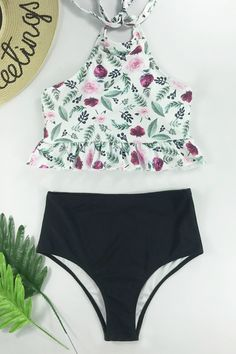 dc912acba3 Beachsissi Better Us Halter Two Piece Swimwear Halter Bikini, Halter Neck, Two  Piece Swimwear