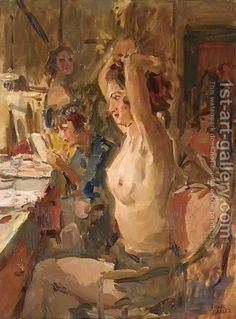 In The Dressing Room Of The Scala Theatre, The Hague by Isaac Israels