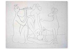 Pablo Picasso, Mes Dessins D'Antibes I on OneKingsLane.com