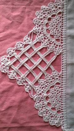 Easiest Crochet Frills Border Ever! Crochet Edging Patterns, Crochet Lace Edging, Crochet Borders, Crochet Cross, Crochet Diagram, Thread Crochet, Irish Crochet, Crochet Designs, Easy Crochet