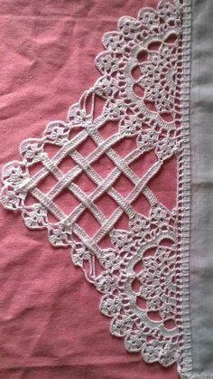 Easiest Crochet Frills Border Ever! Crochet Edging Patterns, Crochet Lace Edging, Crochet Borders, Crochet Diagram, Thread Crochet, Irish Crochet, Crochet Designs, Crochet Flowers, Easy Crochet