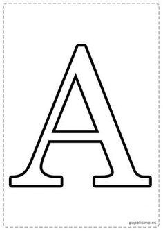 A Abecedario letras grandes imprimir mayusculas