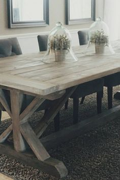 Build the Fancy X Farmhouse Table from and lumber. A reader favorite, this table has been built thousands of times. We also have plans for a matching bench and lots more farmhouse furniture plans. Rustic Kitchen Design, Farmhouse Kitchen Decor, Farmhouse Table, Dining Room Table Centerpieces, Tables, Barn Table, Farmhouse Furniture, Furniture Plans, Home Look
