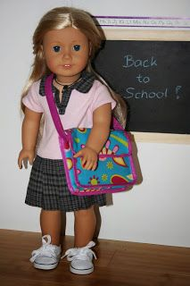 Arts and Crafts for your American Girl Doll: Messenger school bag for American Girl Doll