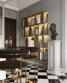 Portfolio: Exquisite apartment in Moscow Lobby Interior, Luxury Homes Interior, Interior Architecture, Modern Office Design, Modern Interior Design, Modern Offices, Neoclassical Interior, Wall Decor Design, Luxury Home Furniture