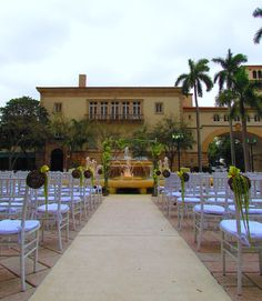 White Green Ceremony At The Historic Douglas Entrance C Gables