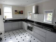 Handleless High Gloss Kitchen in Grey. KB Store Trade