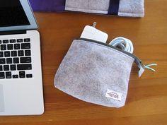Felt Zipper Pouch: sewing tutorial | She's Got the Notion
