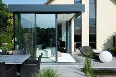 Aluminium sliding door KELLER GLASSHOUSE® by KELLER
