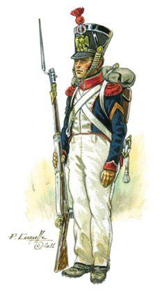 Granatiere della fanteria di linea francese