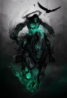 The Four Horsemen of the Apocalypse Darksiders Death, Darksiders Horsemen, Darksiders Game, Dark Fantasy Art, Dark Art, Dark Siders, Joe Madureira, Horsemen Of The Apocalypse, Angels And Demons