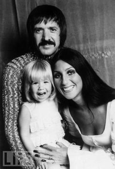 Sonny and Cher with their baby Cassidy  Photo Tim Magazine