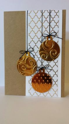 Die cut  embossed ornaments.