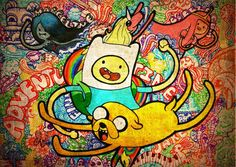 ADVENTURE TIME JAKE AND FINN GIANT BIG wall Art Poster A1,A2,A3,A4 kids bedroom