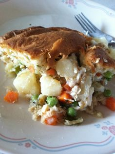 Light Chicken Pot Pie, fast, easy and under 500 calories!  Food Network Recipe