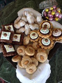 Tradional Maltese sweets served at Easter...almond cookies and torta tal-marmurat