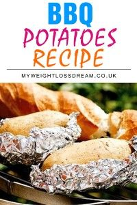 Healthy #BBQ Potatoes Recipe - Turn boring baked potatoes into a great #lowcalorie meal with this simple recipe! #weightlossrecipes #dietrecipes