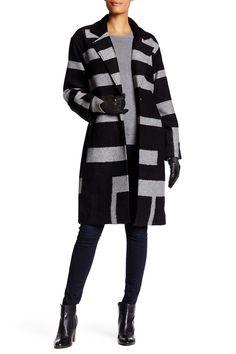 Jana Stripe Wrap Coat  by trina Trina Turk on @HauteLook