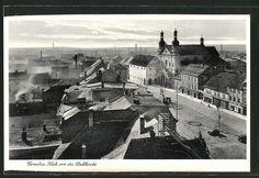 old postcard: AK Komotau / Chomutov, Blick von der Stadtkirche