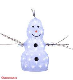 55,00 EUR | Hellyyttävä Olaf-hahmo, 50 LED valopistettä. Korkeus 38 cm ja leveys 21 cm. 31V, 3,6W. Johto muuntajalla 300 cm. Sekä sisä- että ulkokäyttöön IP44.
