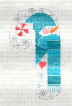 SP.ORDER ~ Danji Candy Cane Snowman & Snowflakes handpainted Needlepoint Canvas  | Crafts, Needlecrafts & Yarn, Embroidery & Cross Stitch | eBay!